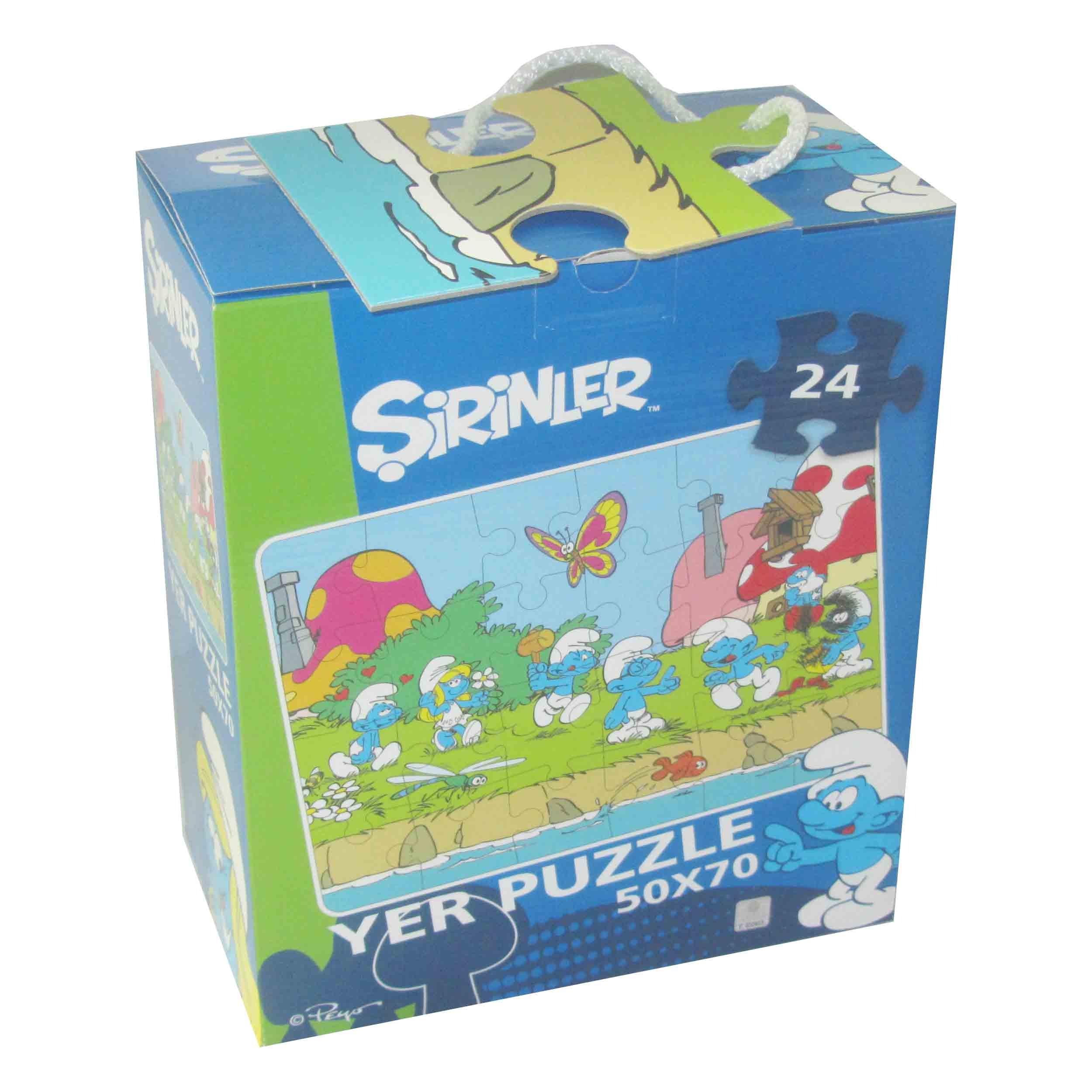 24 Parça Puzzle - Şirinler Yer Puzzle </br>  Puzzle L 75263